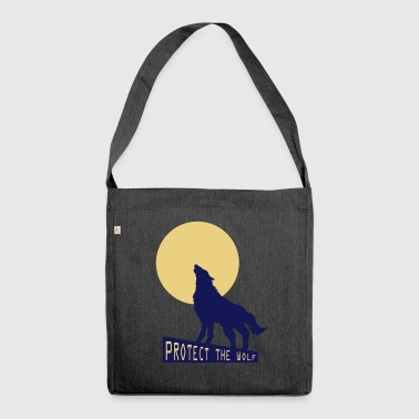 Wolf Wolf wolf - Shoulder Bag made from recycled material