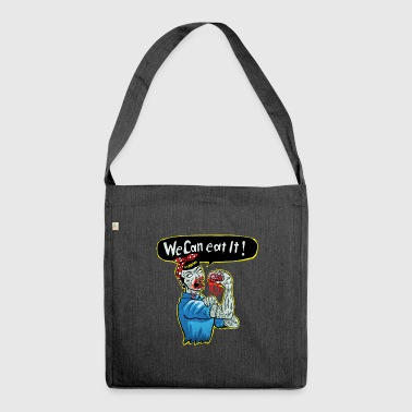 we can eat it - Schultertasche aus Recycling-Material