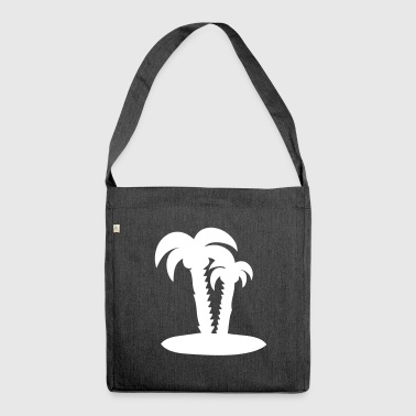 Palm trees palm holiday - Shoulder Bag made from recycled material