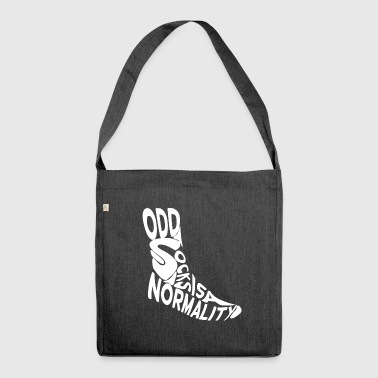 odd socks is a normality - Shoulder Bag made from recycled material