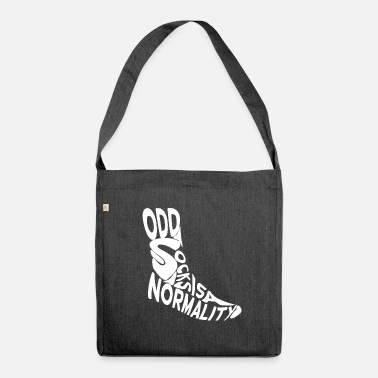 Odd odd socks is a normality - Shoulder Bag made from recycled material