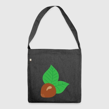 hazelnut hazelnut veggie vegetables fruits4 - Shoulder Bag made from recycled material