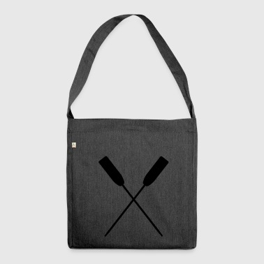 Crossed paddle water paddling paddling - Shoulder Bag made from recycled material