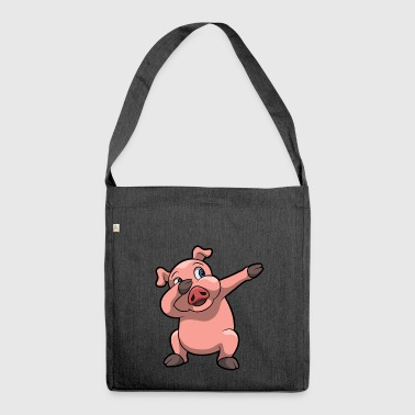 Dabbing pig funny gift kid birthday - Shoulder Bag made from recycled material