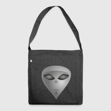 Alien alien face alien - Shoulder Bag made from recycled material