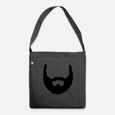 Beard Beard ☆ beards ☆ bearded ☆ hairy - Shoulder Bag made from recycled material