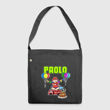 Fire Department Paolo gift - Shoulder Bag made from recycled material