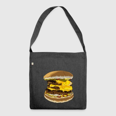 A tasty burger - Shoulder Bag made from recycled material