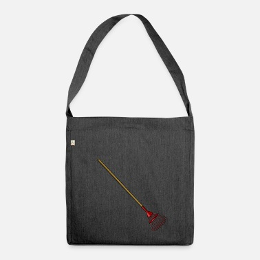 Clean What It Is cleaning cleaning cleaning woman broom wischmop63 - Shoulder Bag made from recycled material