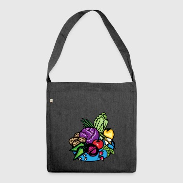 onions halloween vegetables vegetables16 - Shoulder Bag made from recycled material