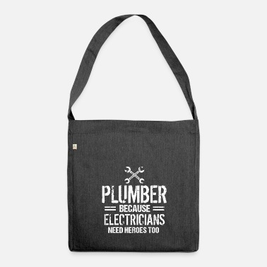 Plumber Plumber Gift Installer Plumber Plumber - Shoulder Bag made from recycled material