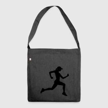 Die Joggerin - Schultertasche aus Recycling-Material