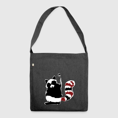 socialist racoon - Shoulder Bag made from recycled material