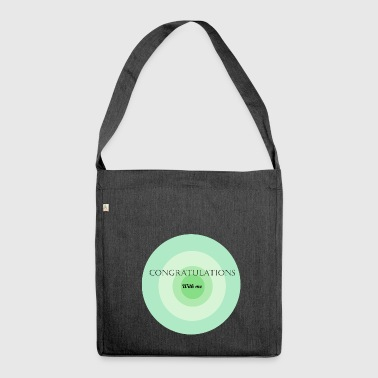 congratulations with me - Shoulder Bag made from recycled material