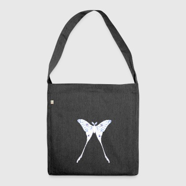 Schmetterling Illustration - Schultertasche aus Recycling-Material