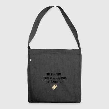 Price tags - Shoulder Bag made from recycled material
