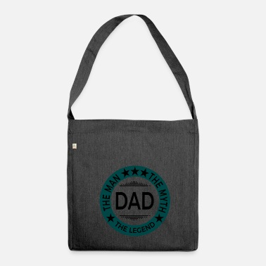 Fathers Day Father's Day Father's Day gift - Shoulder Bag made from recycled material
