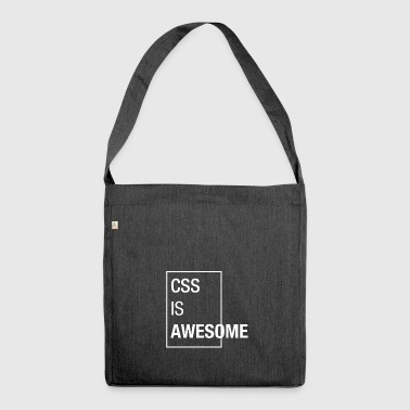 CSS is awesome - Shoulder Bag made from recycled material
