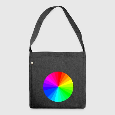 Steering Wheel color Wheel - Shoulder Bag made from recycled material