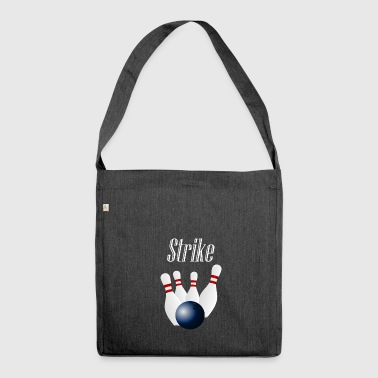 Strike bowling - Shoulder Bag made from recycled material
