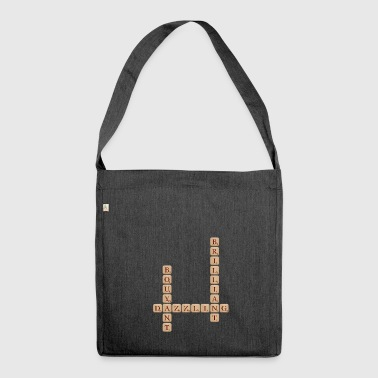 Scrabble scrabble - Shoulder Bag made from recycled material