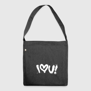 i love u graffiti street art tag style shirt - Shoulder Bag made from recycled material