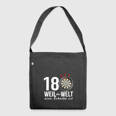 Dart 180 - Because the world is a disc - Shoulder Bag made from recycled material