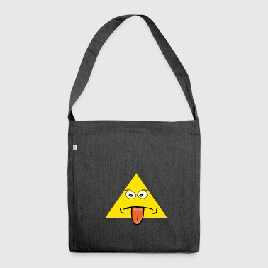 triangle tongue - Shoulder Bag made from recycled material