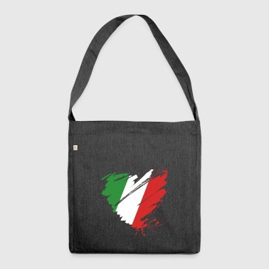 Heart Cuore Italy Italy Football - Shoulder Bag made from recycled material