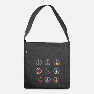 Green Peace peace - Shoulder Bag made from recycled material