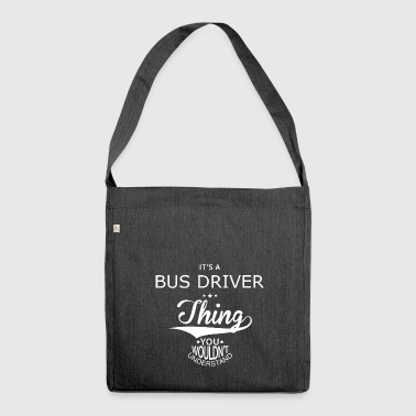 Bus driver - Shoulder Bag made from recycled material