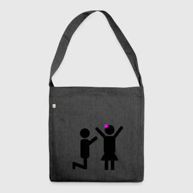 Marriage proposal - Shoulder Bag made from recycled material