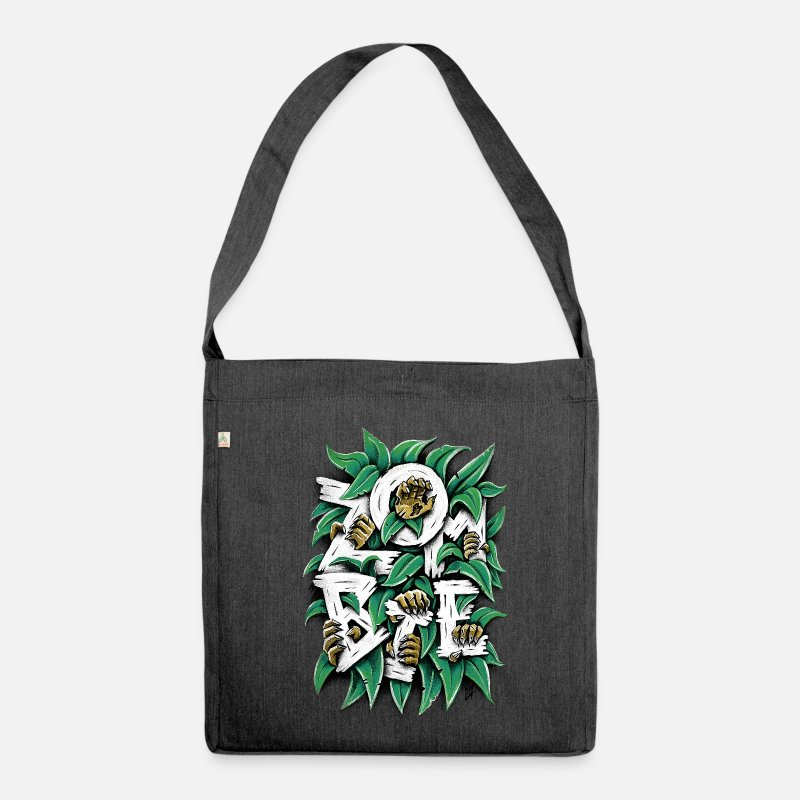 Spreadshirtlikes Bags & Backpacks - ZOMBIE - Shoulder Bag recycled heather black