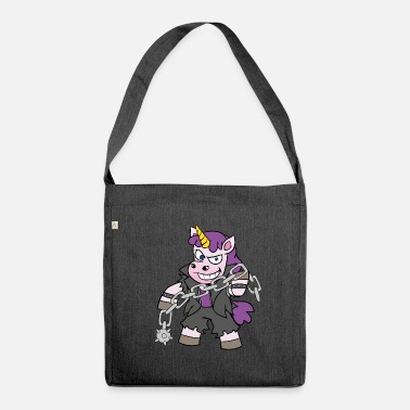 Fetish Sadomaso unicorn fetish SM - Shoulder Bag made from recycled material