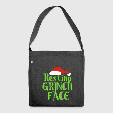 Resting Grinch Face - Shoulder Bag made from recycled material
