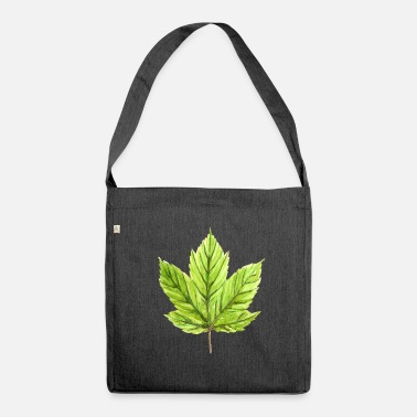 Vine vine leaf - Shoulder Bag made from recycled material