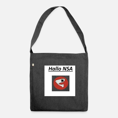 Nsa hallo nsa - Schultertasche aus Recycling-Material