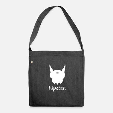 Hipster with beard - Shoulder Bag recycled