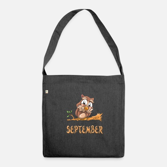 September Bags & Backpacks - Owl september - Shoulder Bag recycled heather black