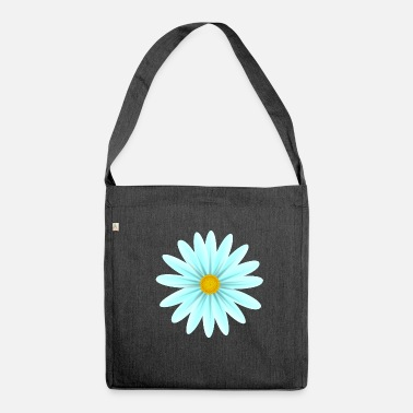 Teal Teal Daisy Top Down - Shoulder Bag recycled