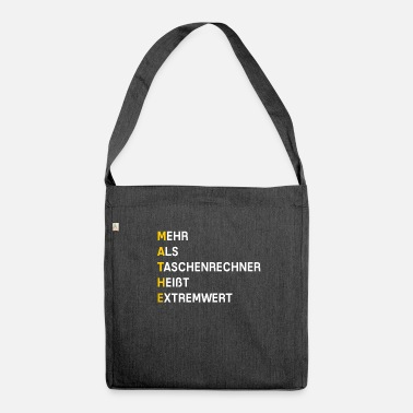 Mathematics mathematics - Shoulder Bag recycled