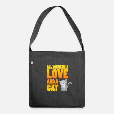 Animal Lover Cat cat lover animal lover animal lover - Shoulder Bag made from recycled material