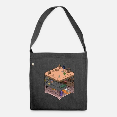 Video Game Isometric video game dungeon - Shoulder Bag made from recycled material