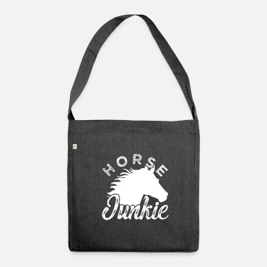 Horseriding Horse junkie - Shoulder Bag made from recycled material