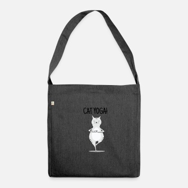 Yoga Yoga Cat! - Borsa in materiale riciclato