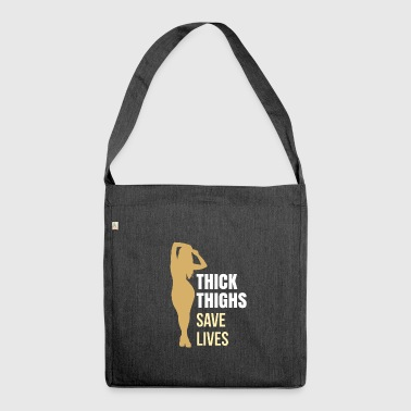 chubby women gift dick sexy hot curves - Shoulder Bag made from recycled material