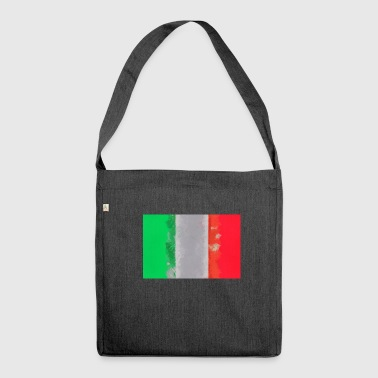 Italy flag Italian flag Itlaien - Shoulder Bag made from recycled material