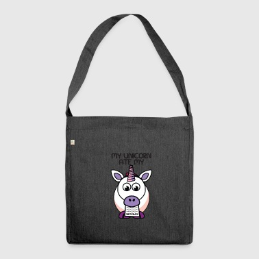 Homework unicorn - Shoulder Bag made from recycled material