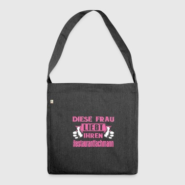Restaurant professional love gift - Shoulder Bag made from recycled material