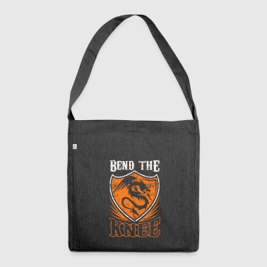 Bend the Knee Shirt - Shoulder Bag made from recycled material